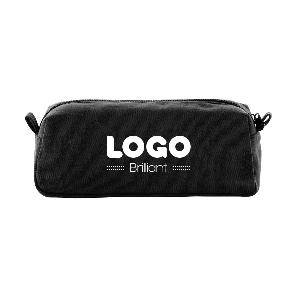 134782 canvas travel pouch one color one location imprint