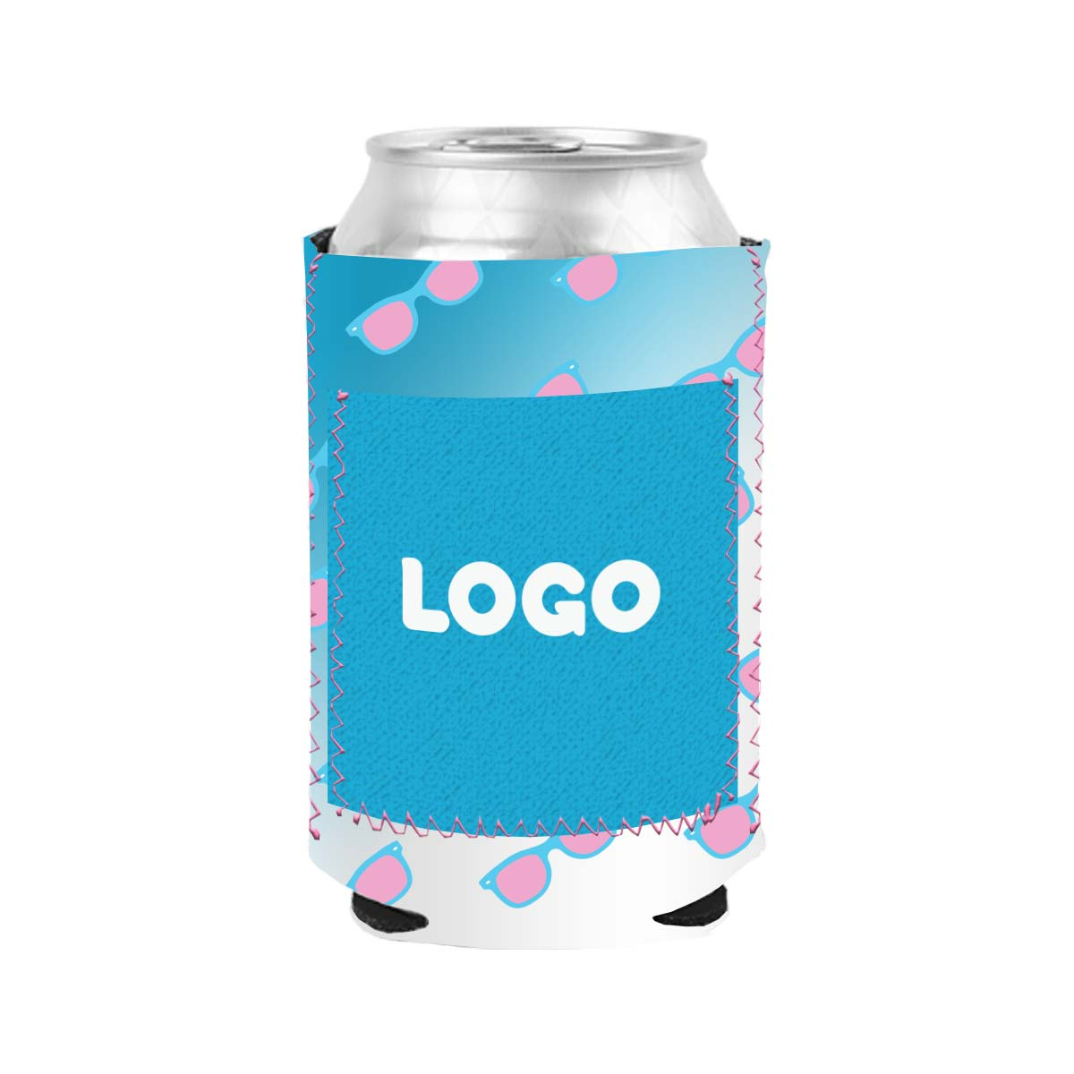 134773 pocket koozie one color imprint one side