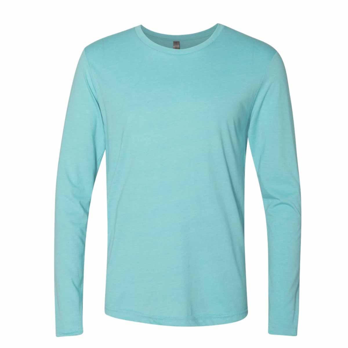 Ssactivewear nextlevellongsleeveshirt turquoise