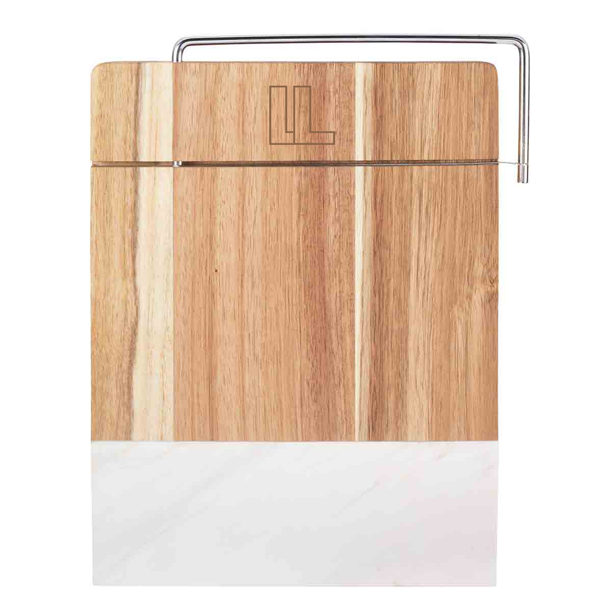 148063 marble wood cutting board laser engraved one location