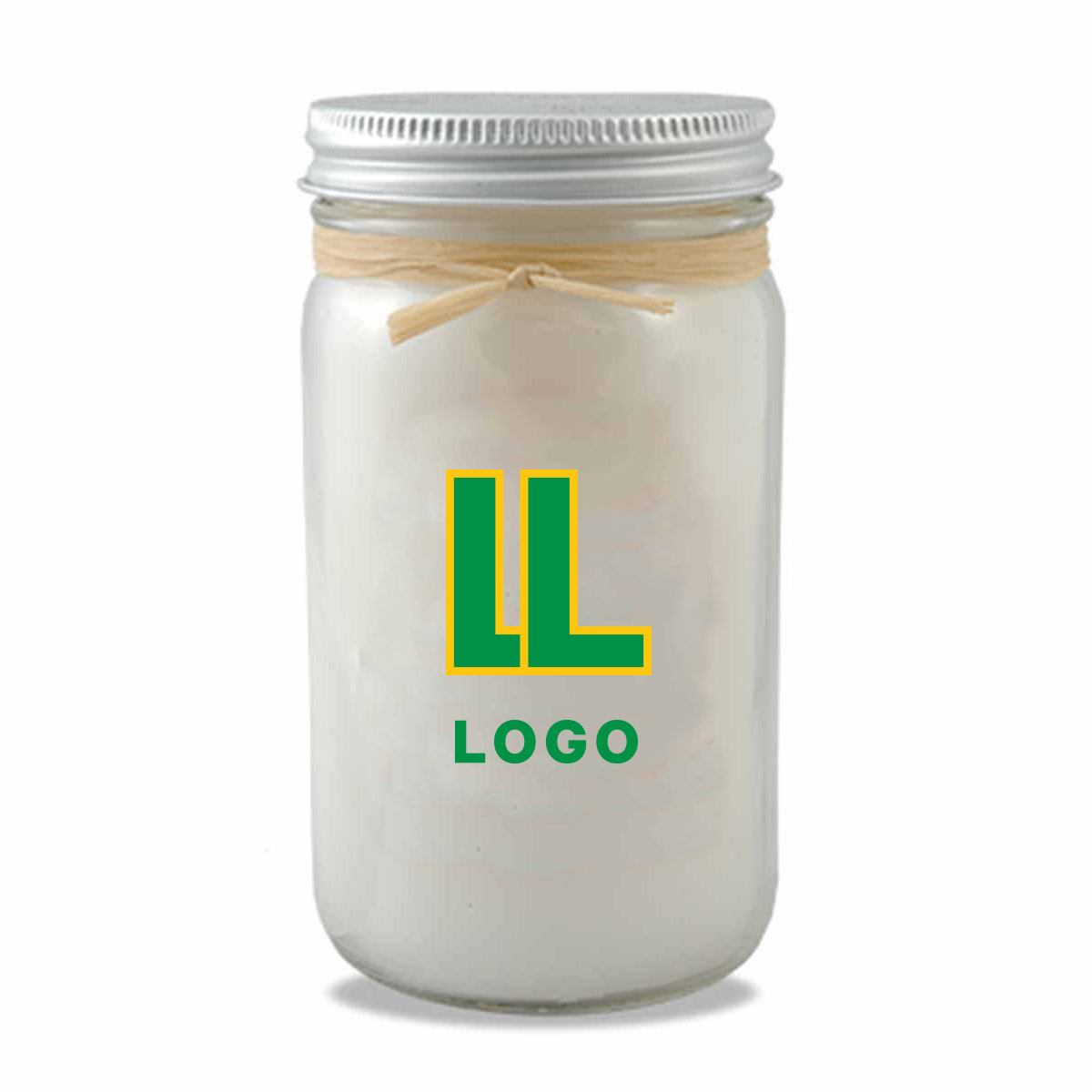 148010 mason jar candle full color label one location pms wax