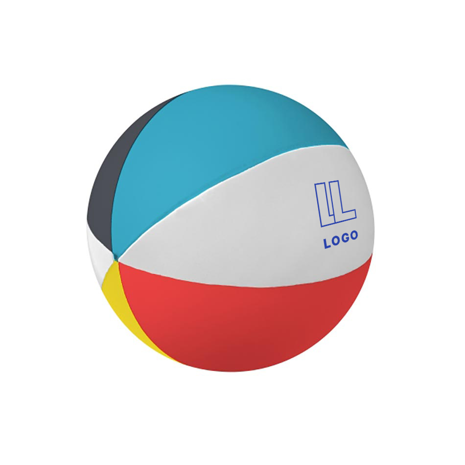 146630 beach ball shape stress reliever one color imprint