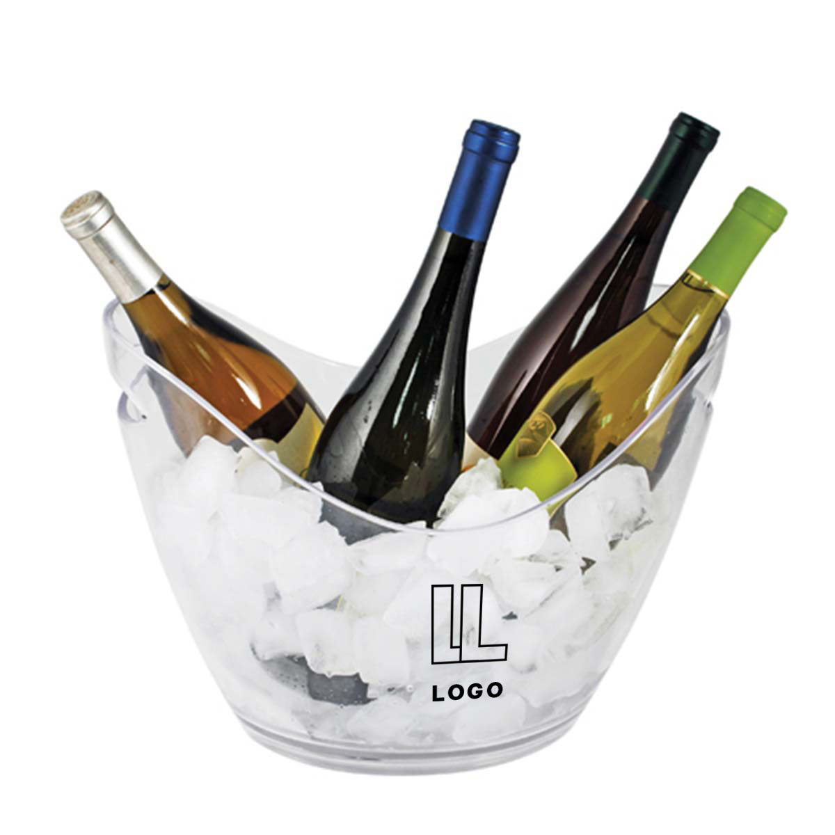 146609 acrylic ice bucket one color imprint one location