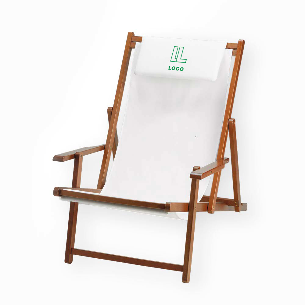 146687 wood sling chair one color imprint one location