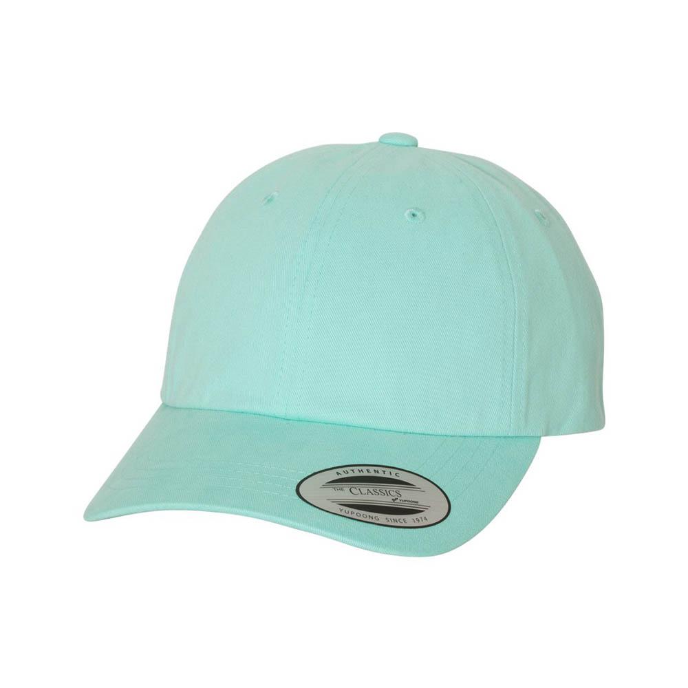 Blue peached cotton dad cap
