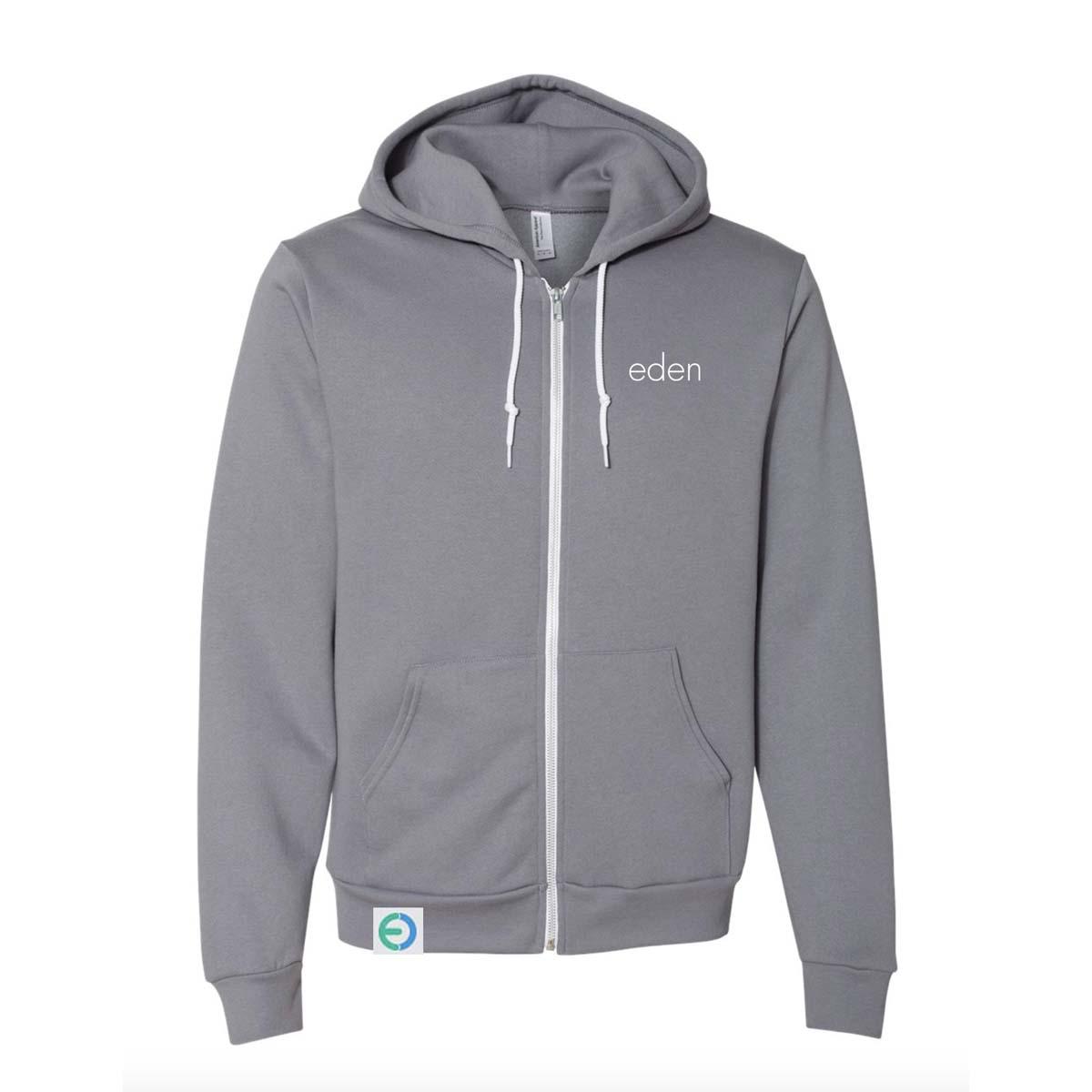 Eden gray fruit sweatshirt zip w