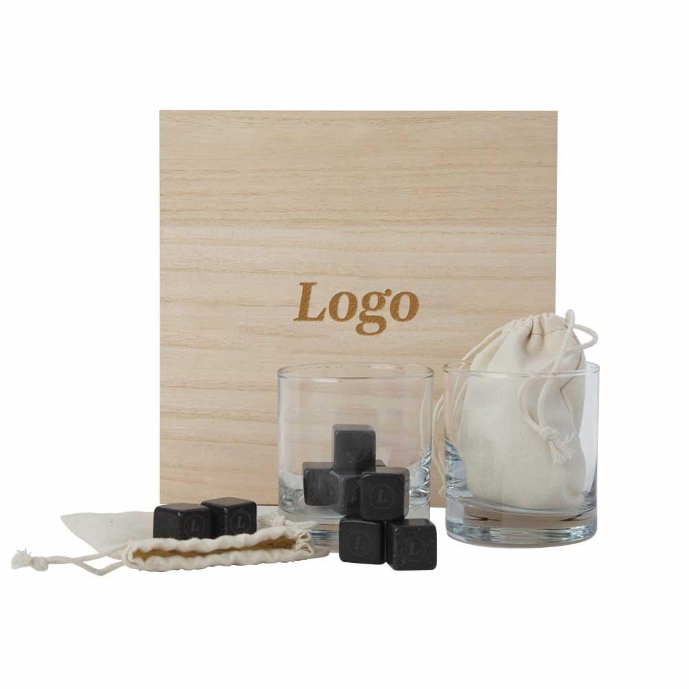 165857 speakeasy gift set logo on box stones