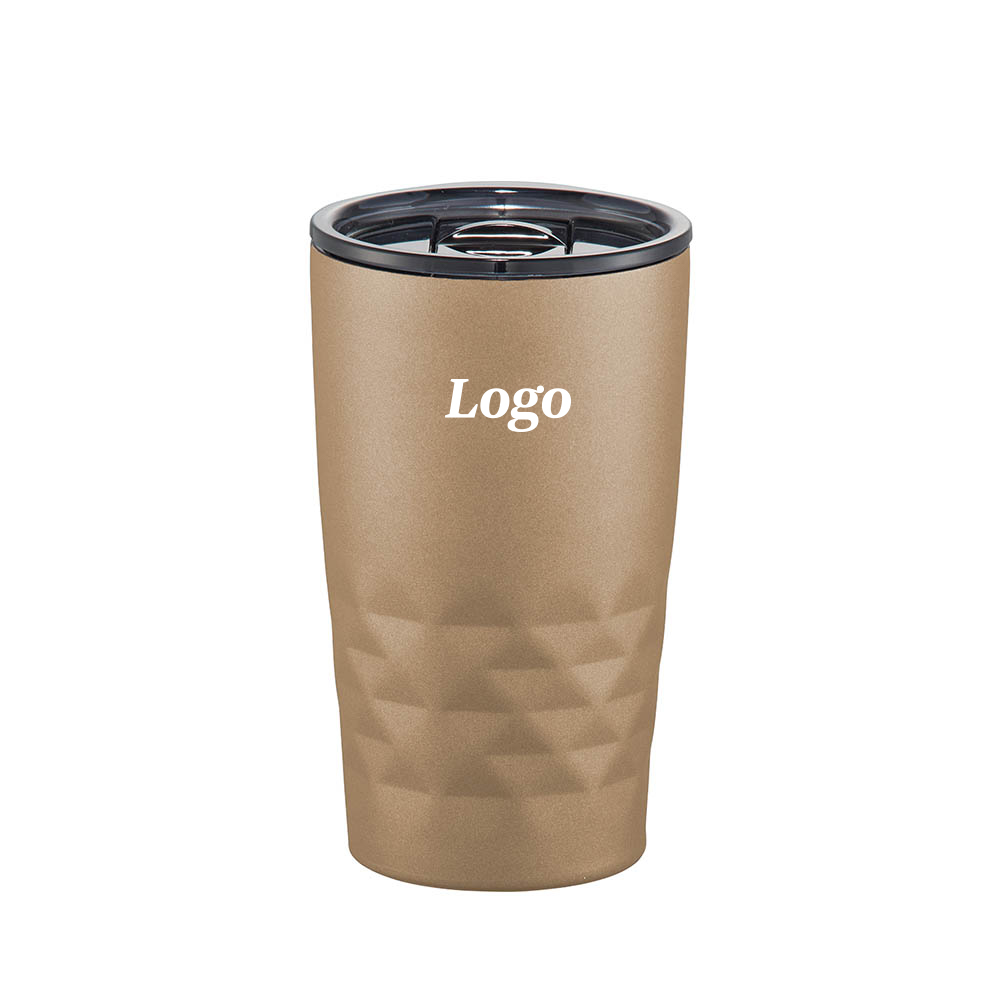 163691 short vacuum insulated geometric tumbler one color one location imprint