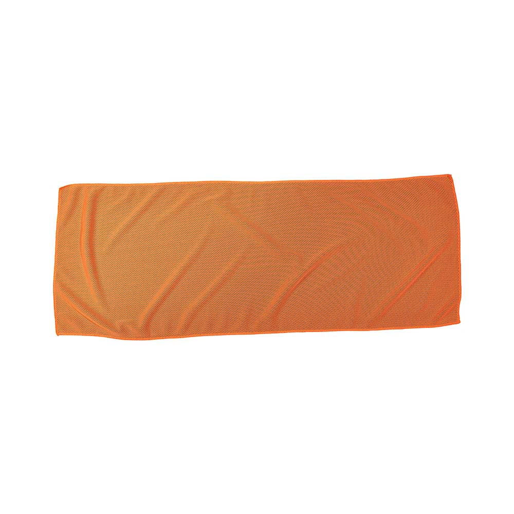 Orange fitness alpine cooling towel
