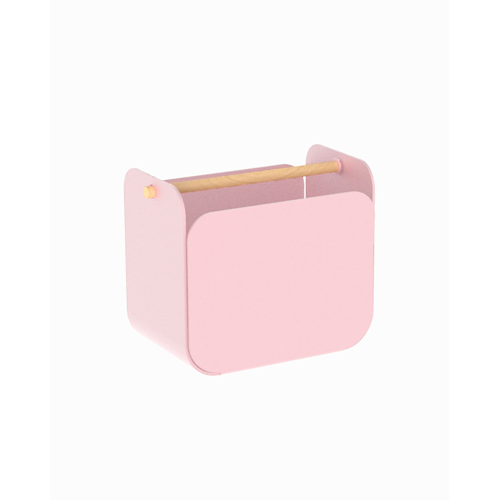 Pink metal pen holder