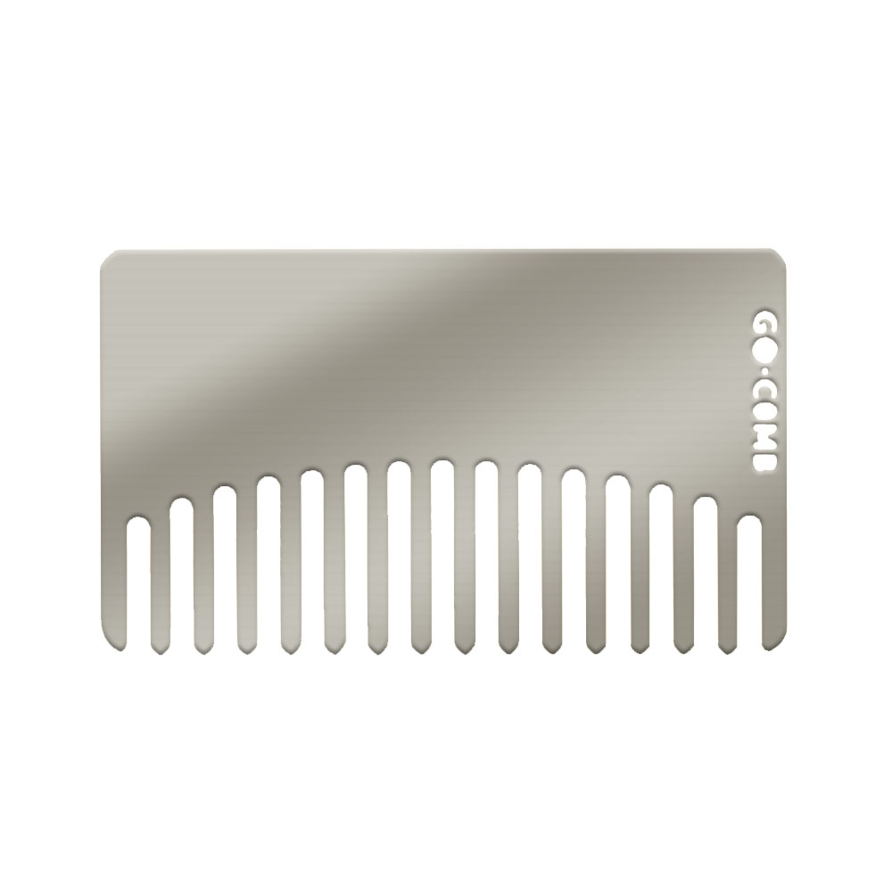 Blank stainless wallet comb