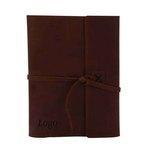 Medium 165858 leather composition book debossed one location