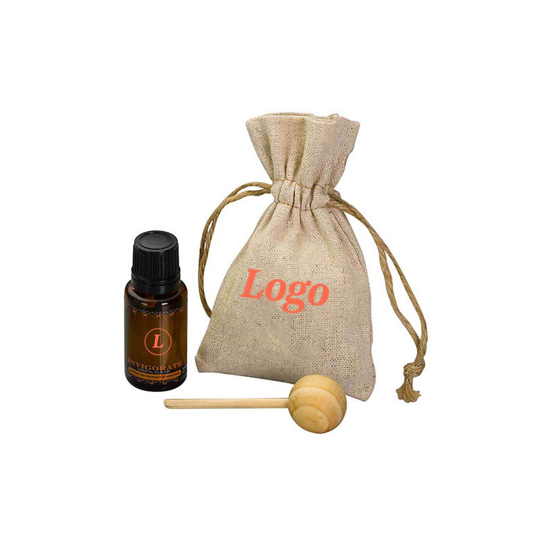 163141 zen travel diffuser set one color imprint bag and full color imprint on bottle