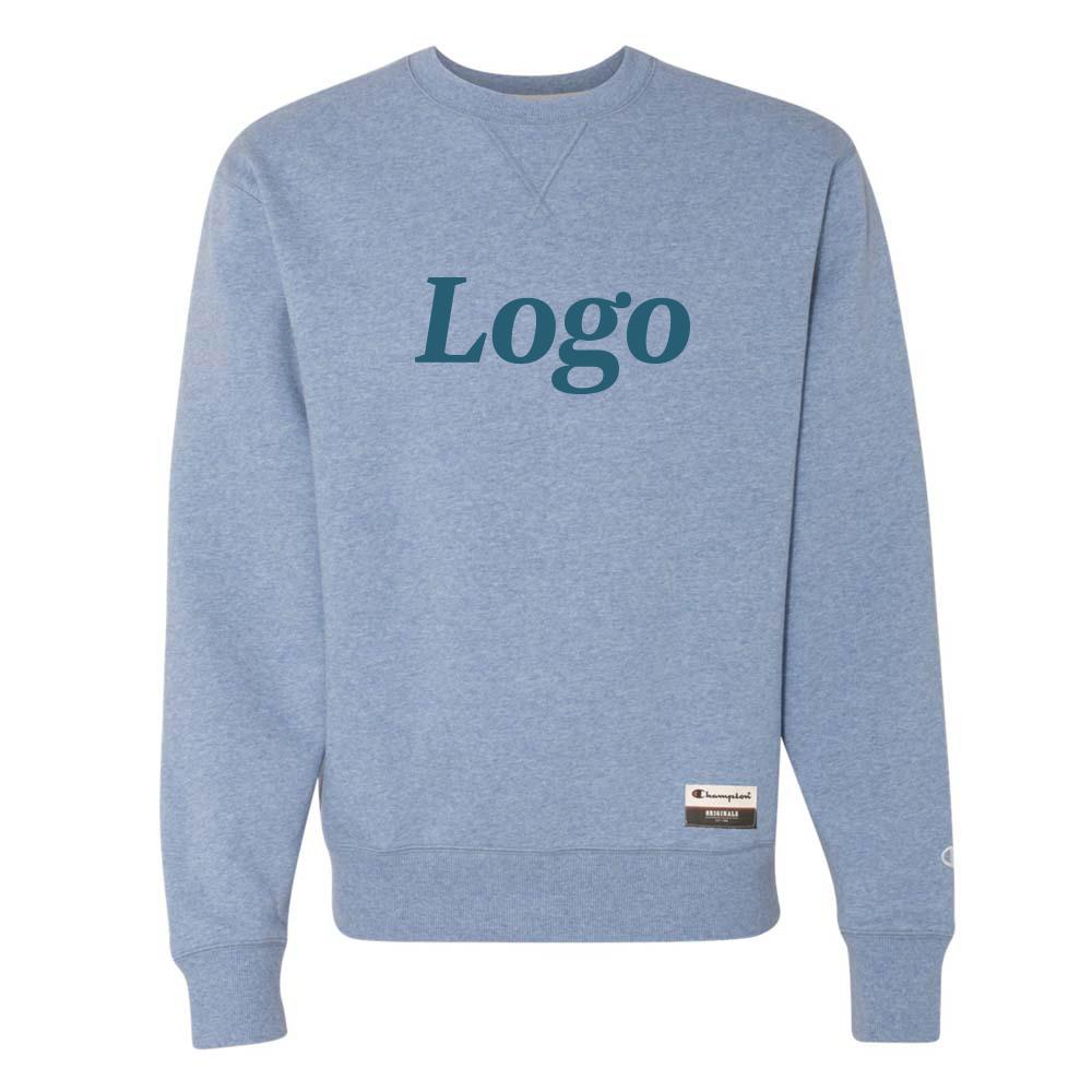166910 sueded fleece crew one color imprint