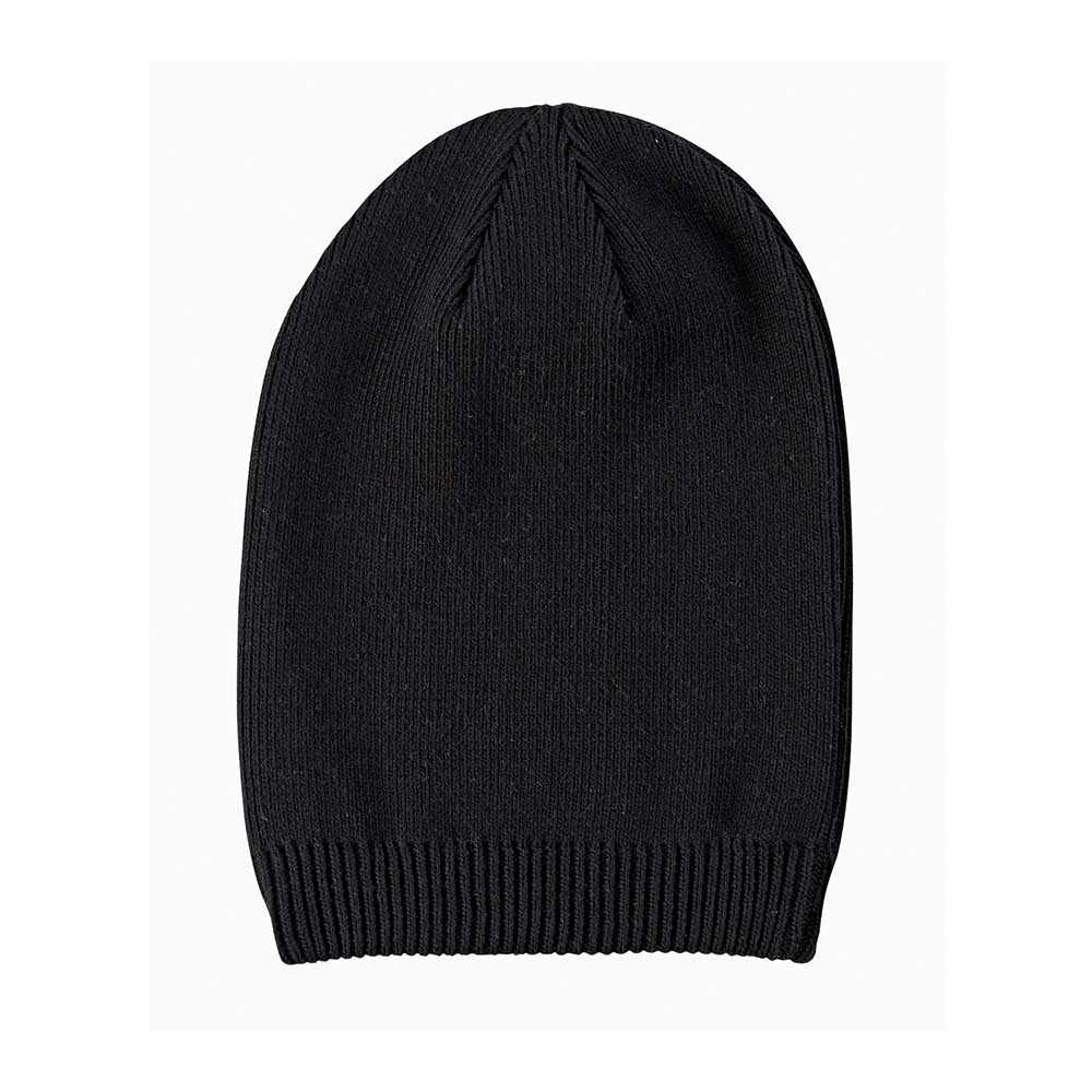 Black organic cotton beanie