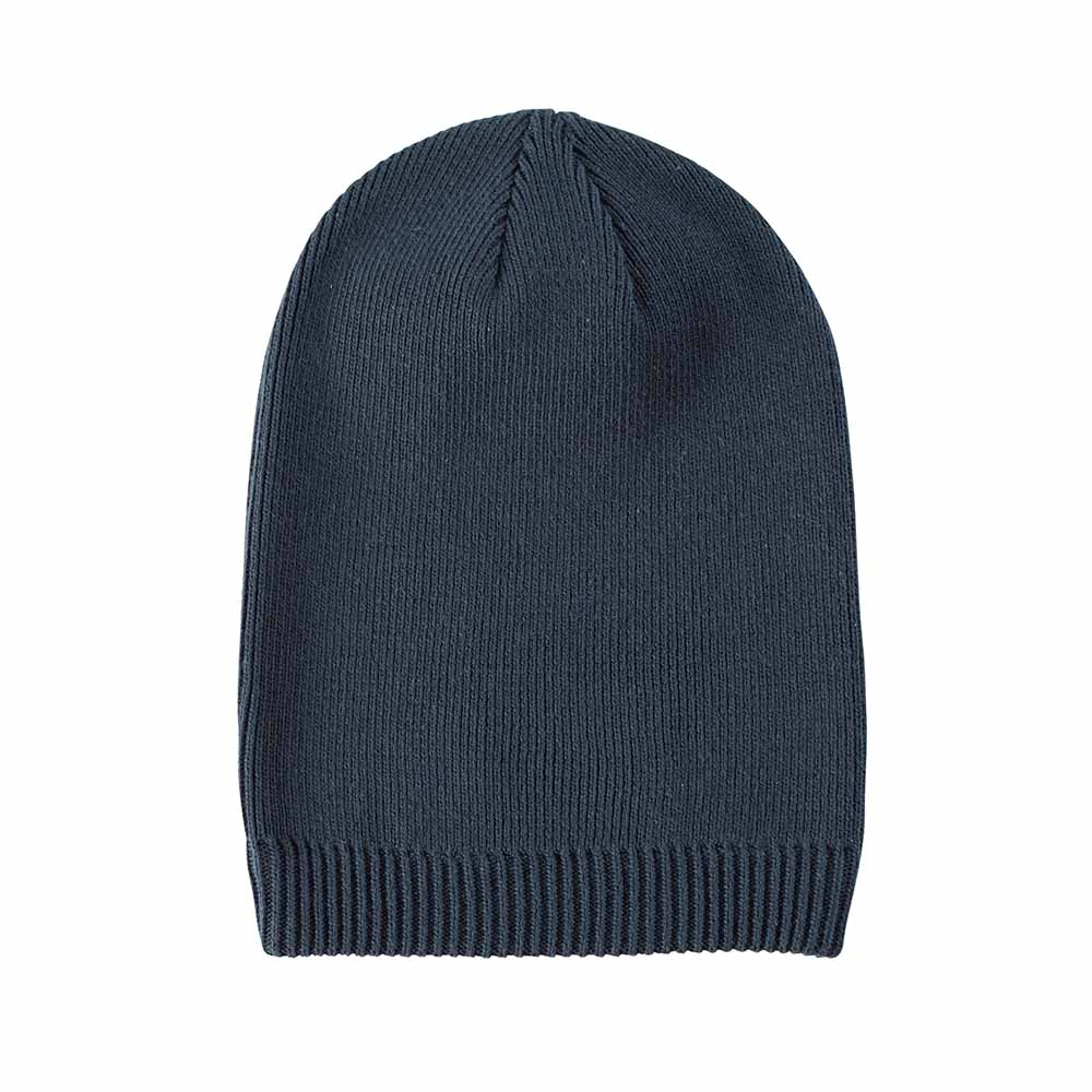Navy organic cotton beanie