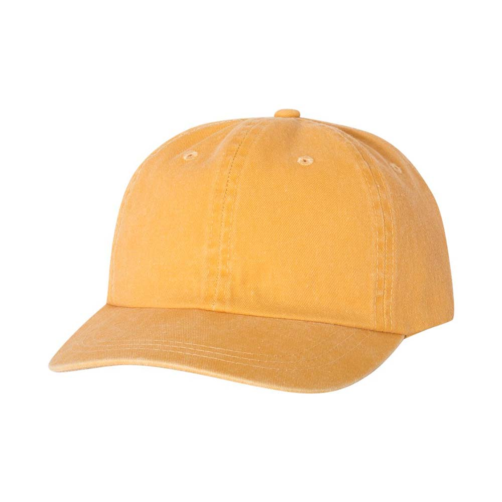 Gold pigment dyed cap