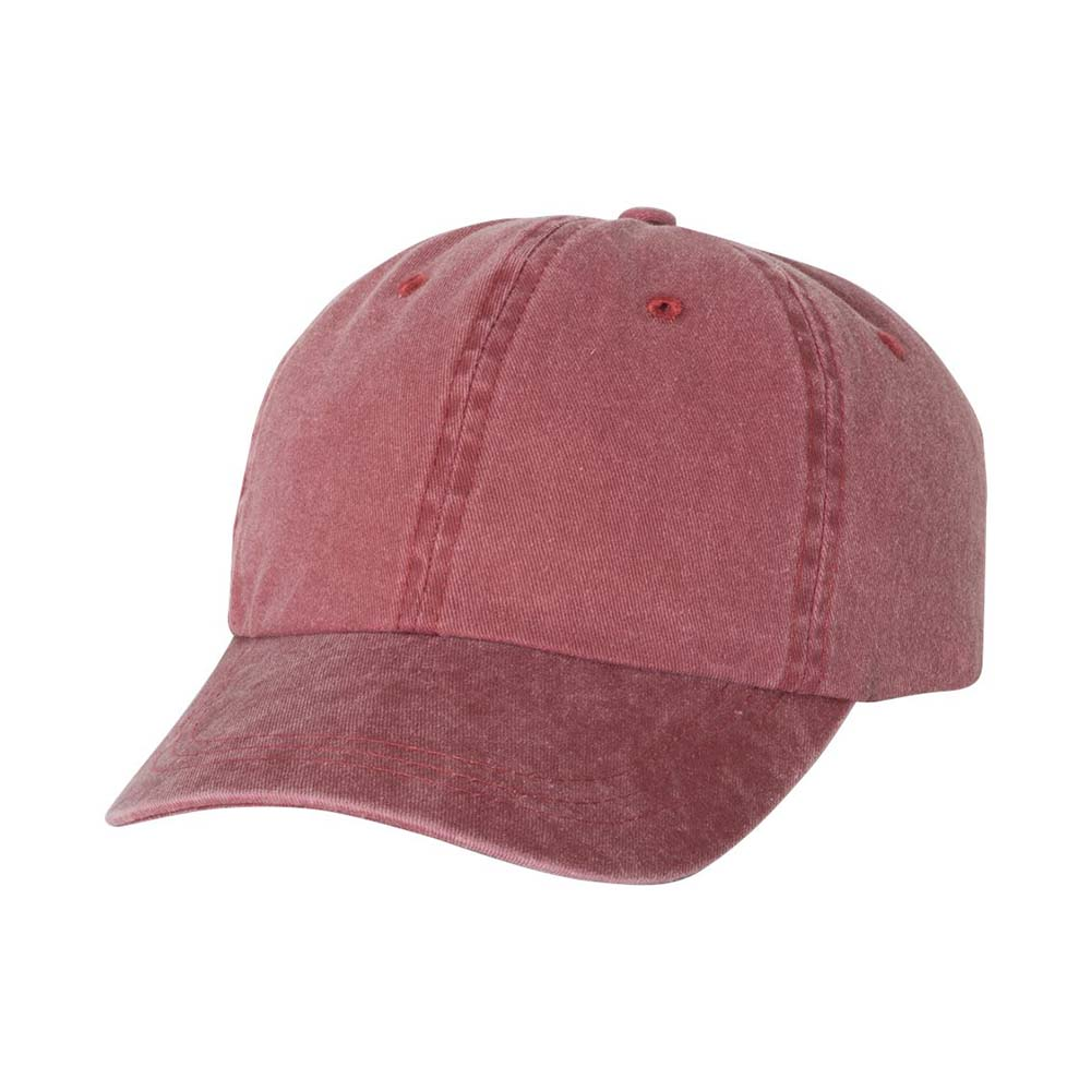 Maroon pigment dyed cap