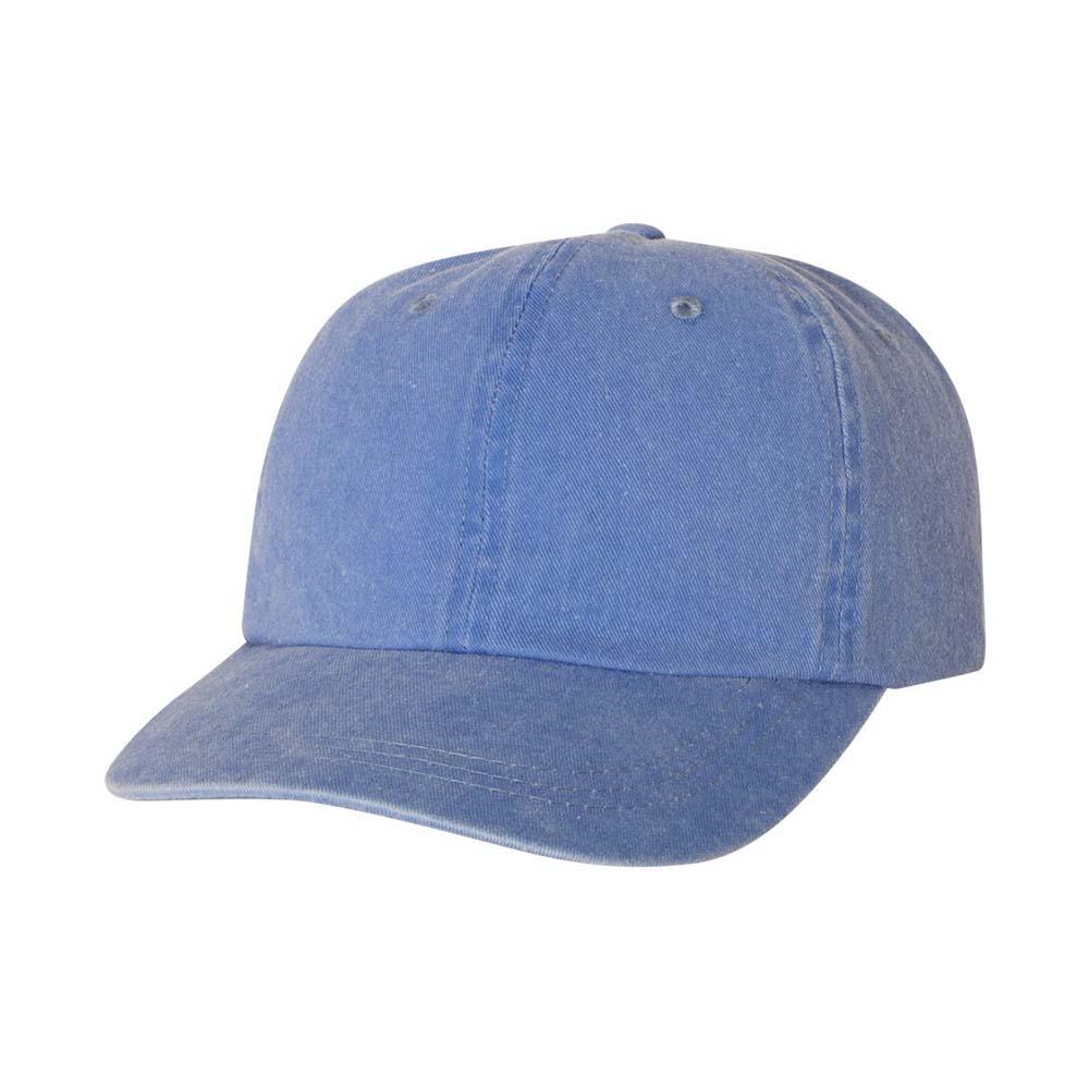 Blue pigment dyed cap
