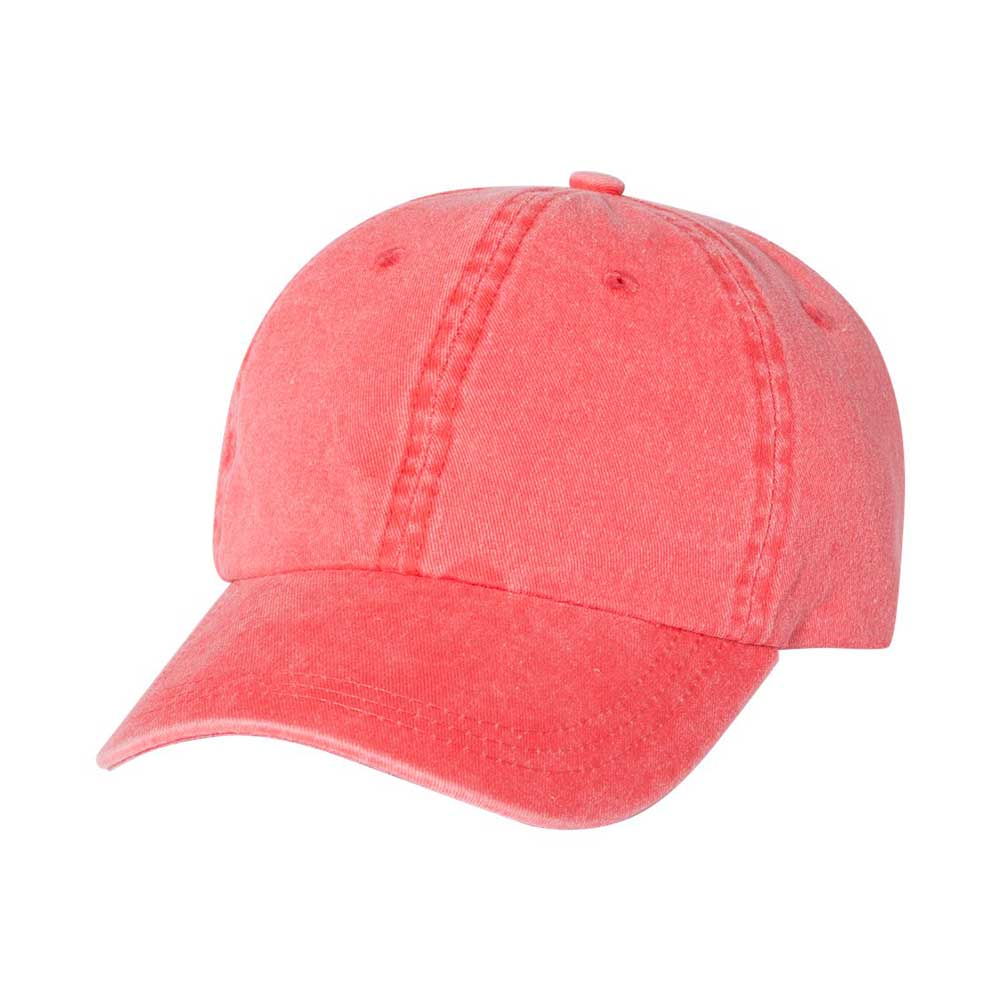 Coral pigment dyed cap