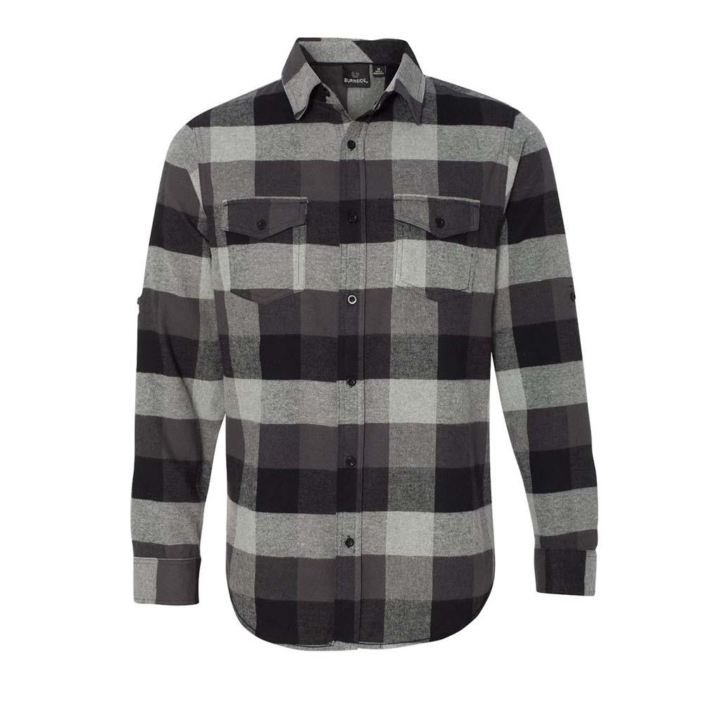 Flannel black steel