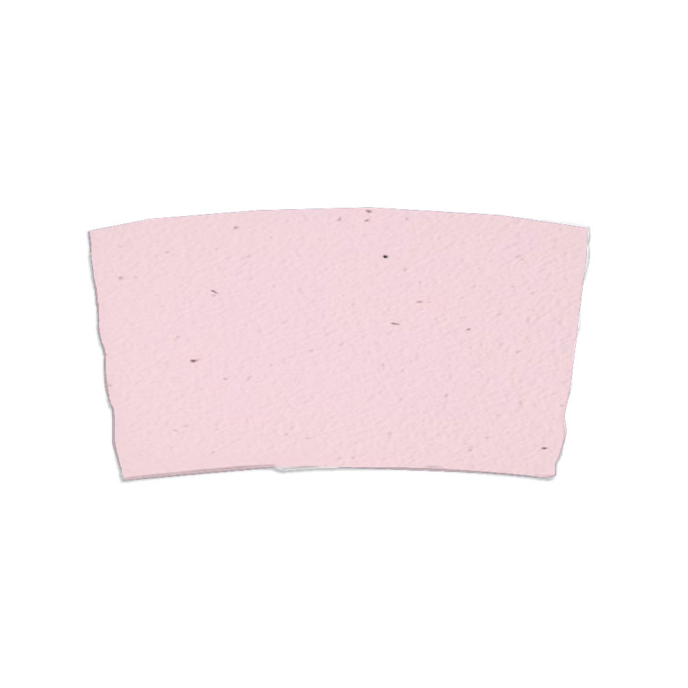 Pink seed paper sleeve