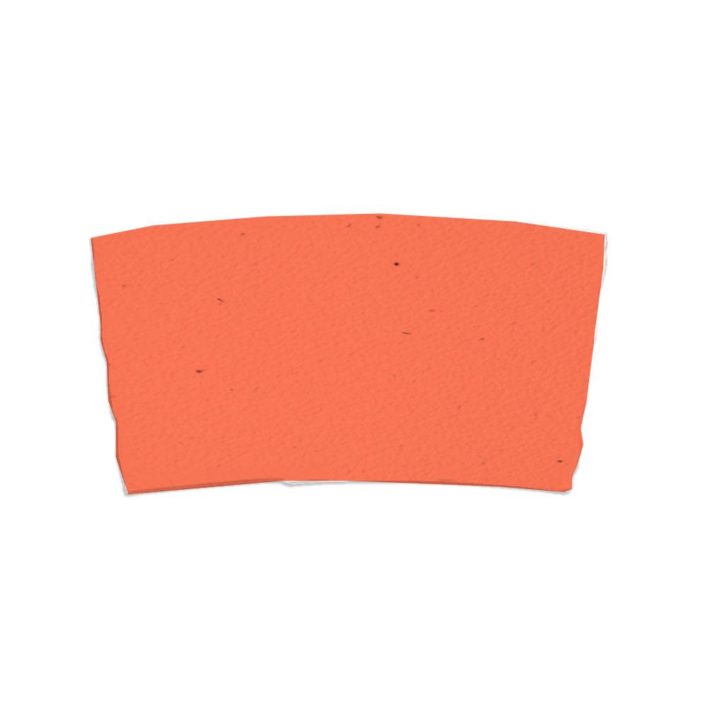 Tangerine seed paper sleeve