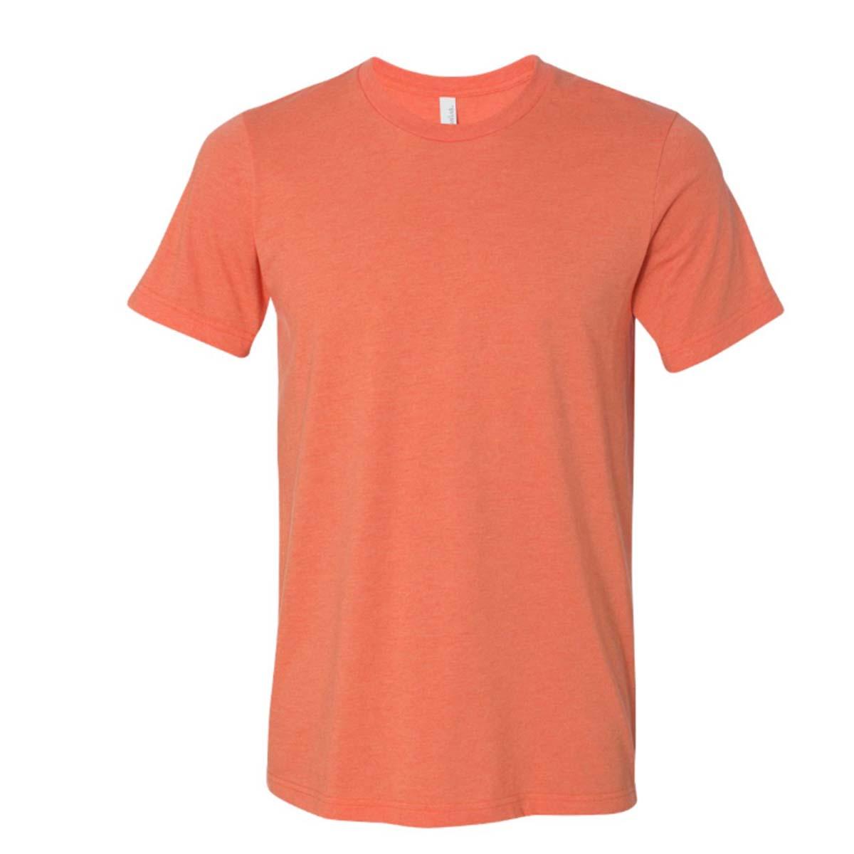 Bellacanvas jerseytshirt heatheredorange