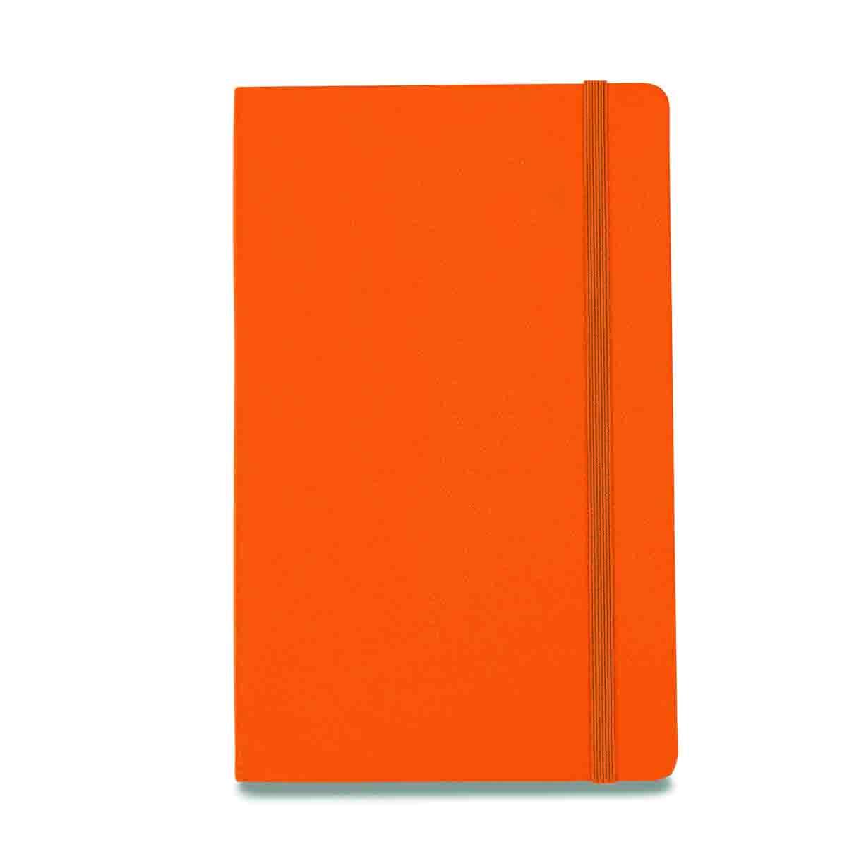Gemline moleskinehardcovernotebook orange