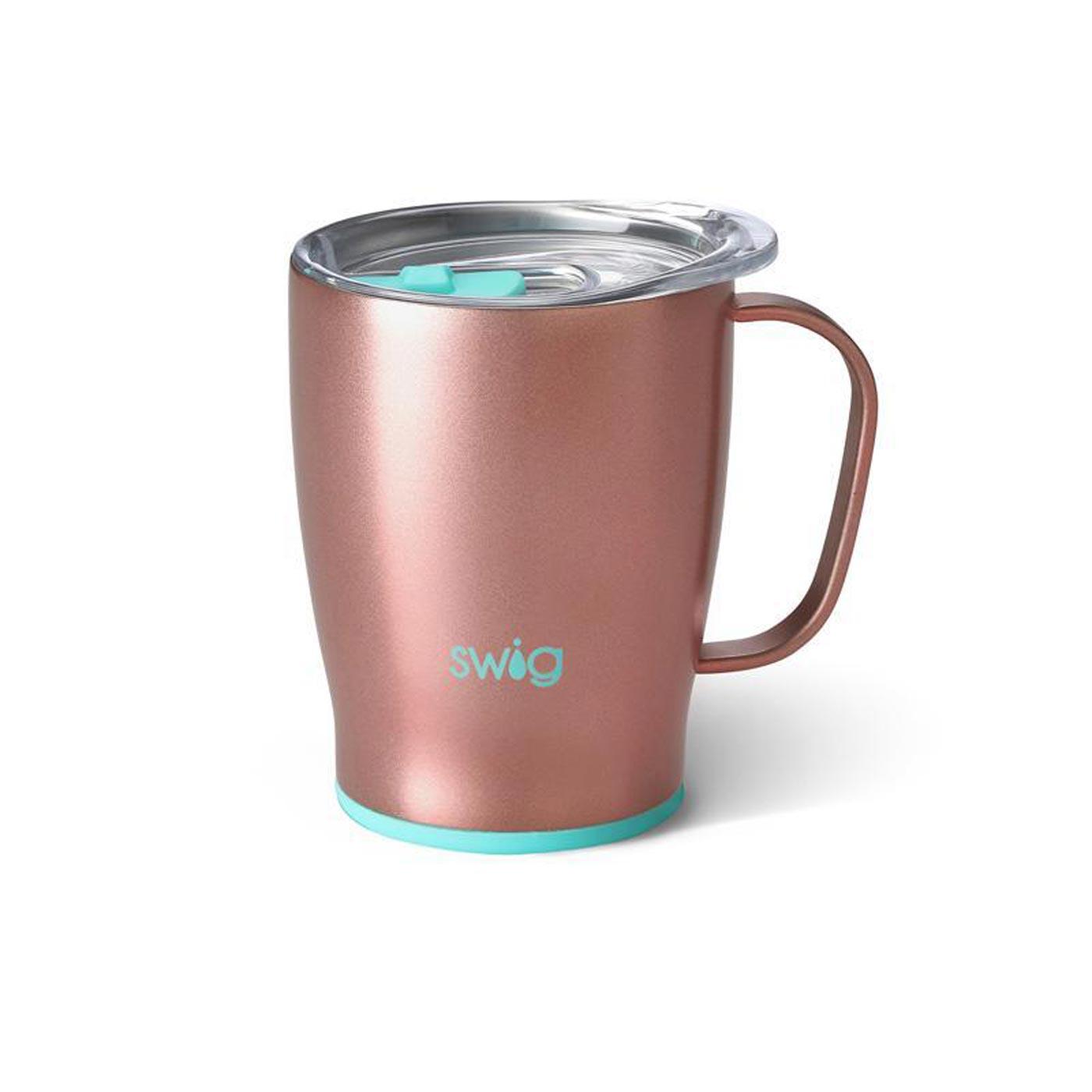 Swig life signature 18oz mug rose gold