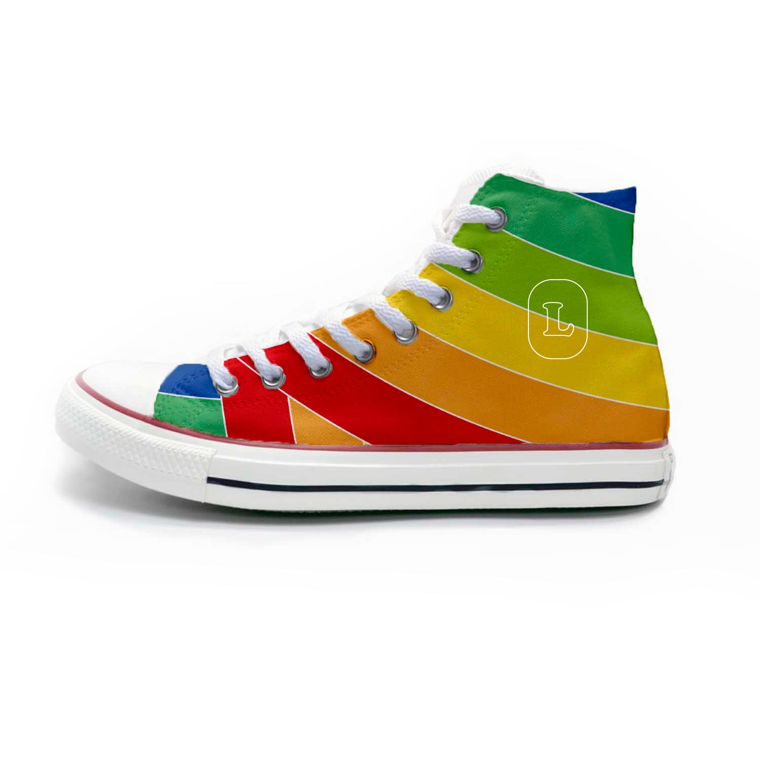 223984 hightop chucks white converse full color imprint