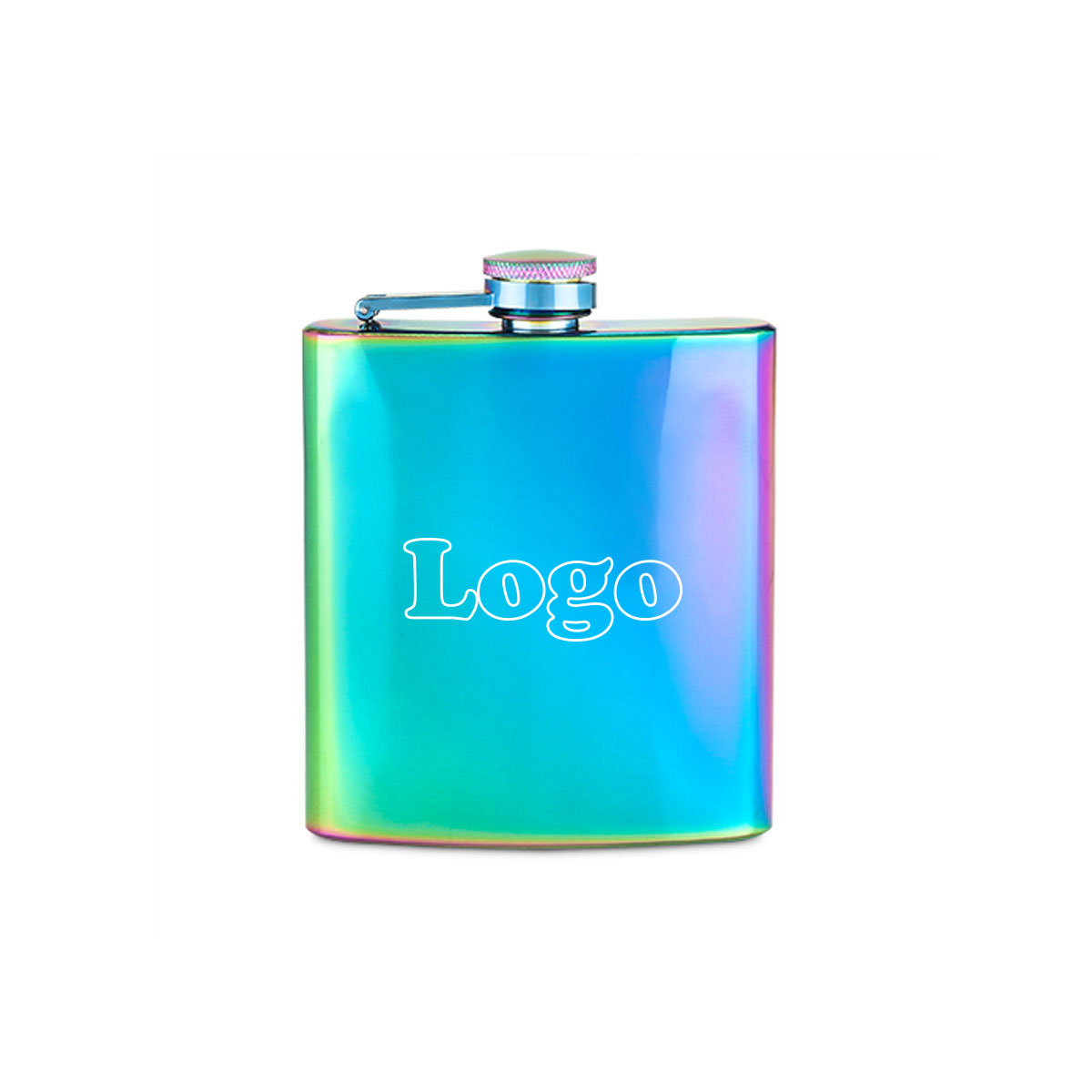 223988 unicorn flask one color one location imprint