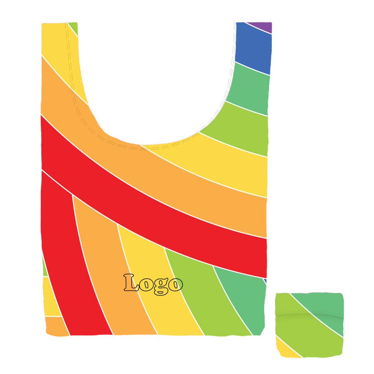 223996 cha cha medium bag full color sublimated imprint