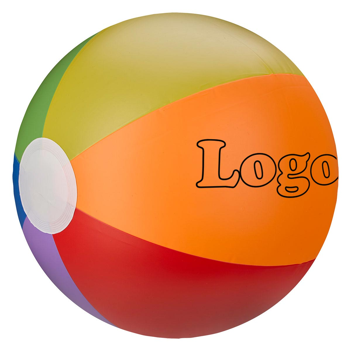 223992 16 rainbow beach ball one color one location imprint