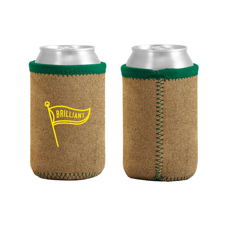 229581 suede can koozie one color imprint