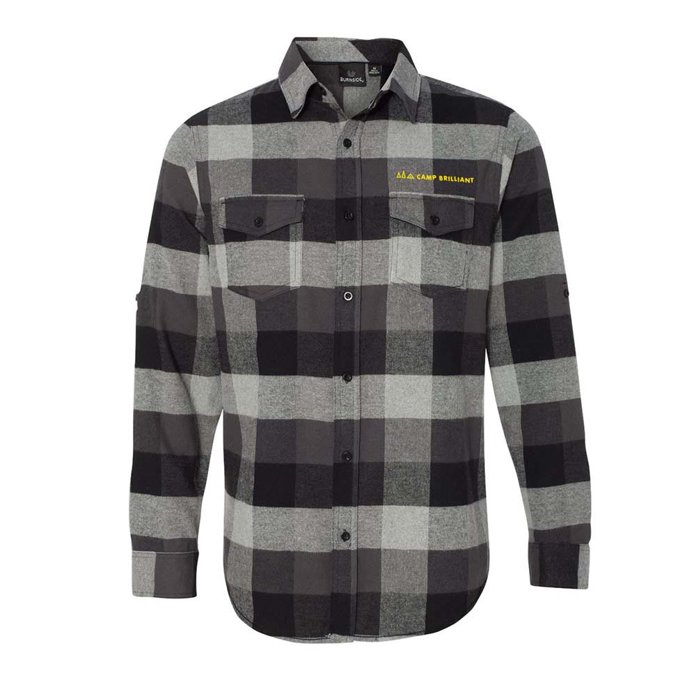 229560 yarn dyed long sleeve flannel shirt one location embroidery