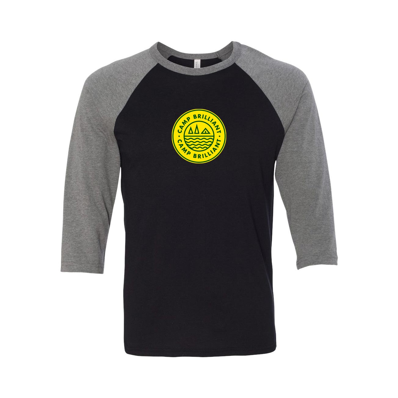 229167 unisex baseball t shirt one color one location imprint