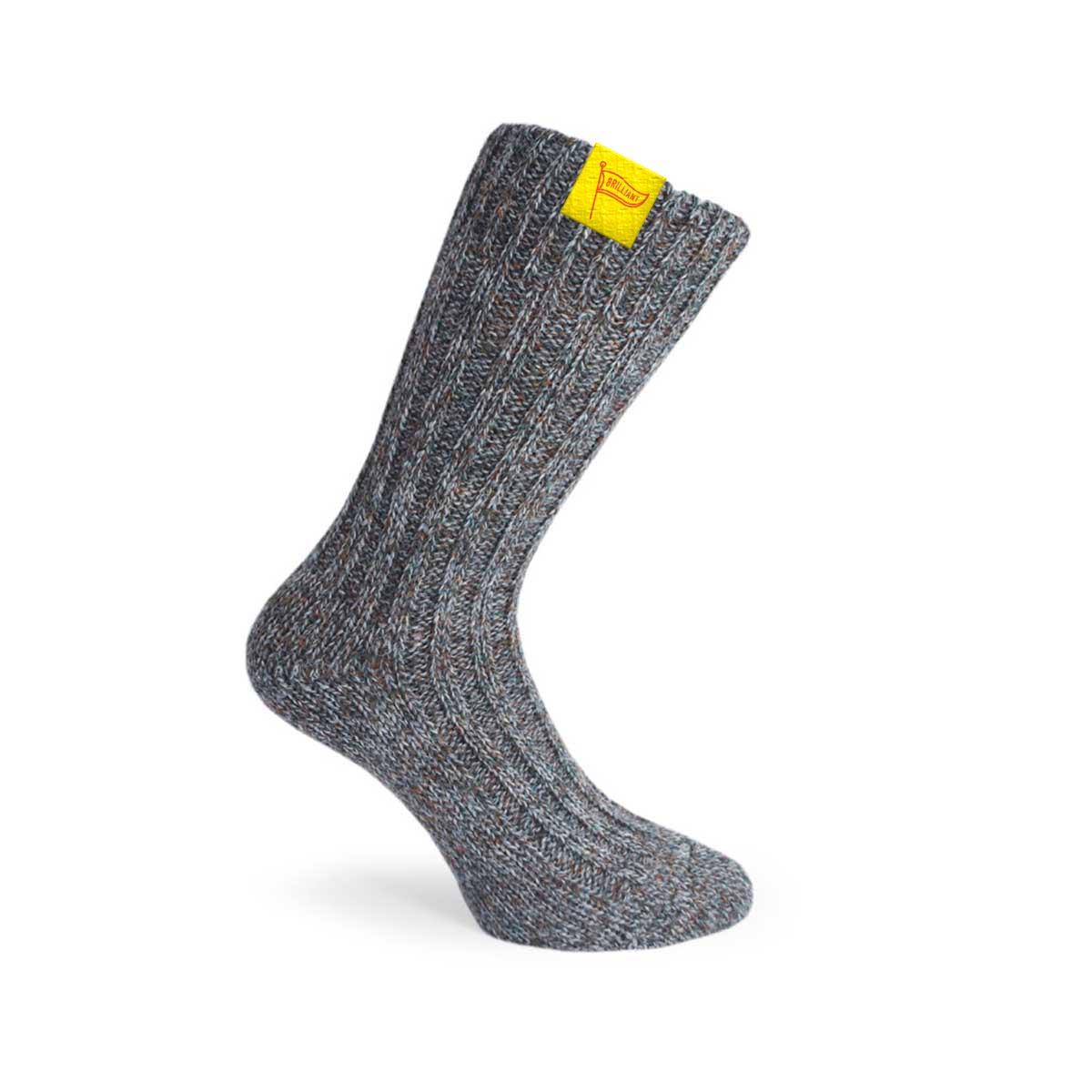 229567 woven wool socks full color woven hem tag