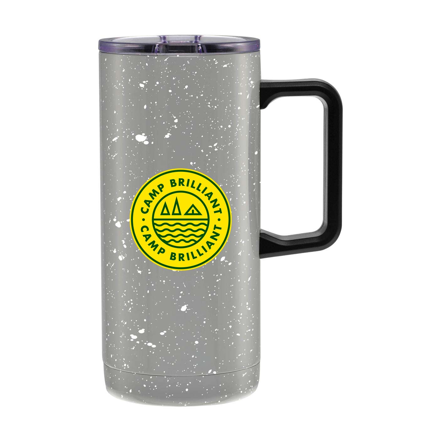 229154 speckled camper tumbler two color one location imprint