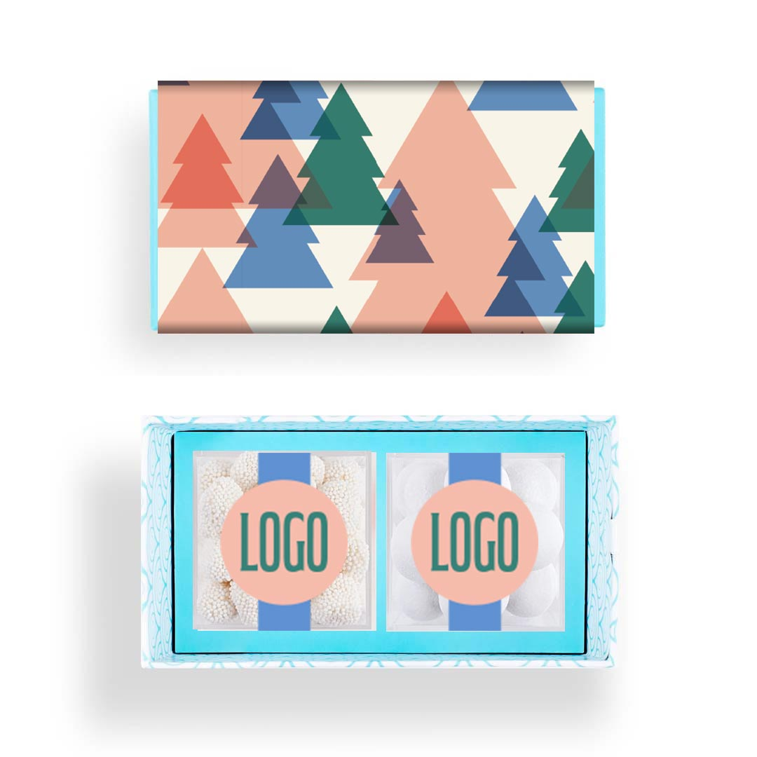 236107 candy bento box 2 piece deluxe custom cube labels note insert full color custom sleeve