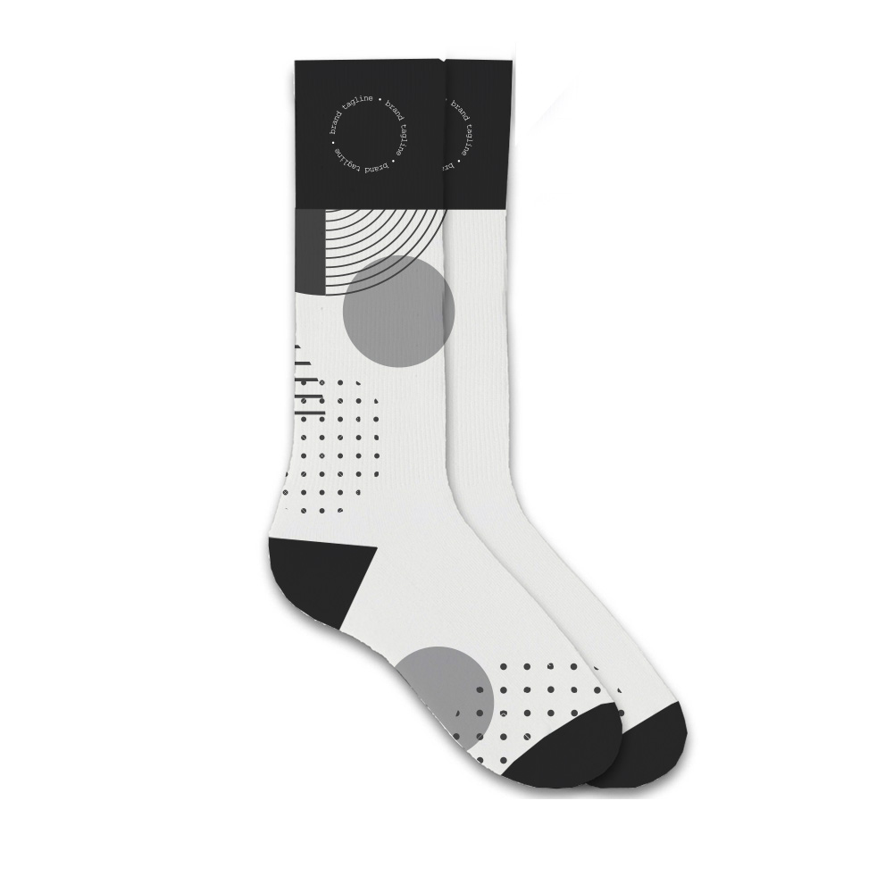 243679 custom woven socks rush multi color design