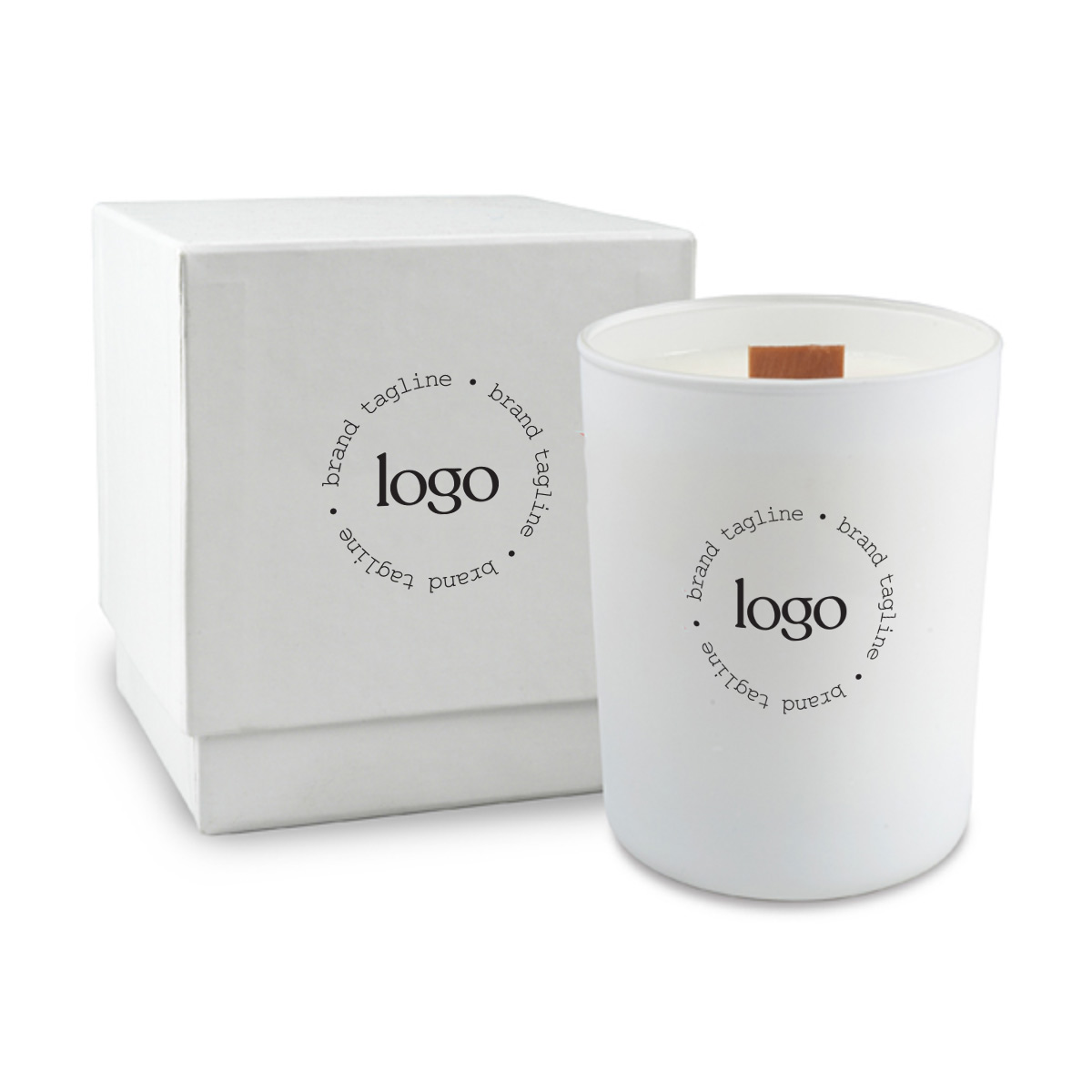 243699 nouveau soy candle one color imprint on candle and box