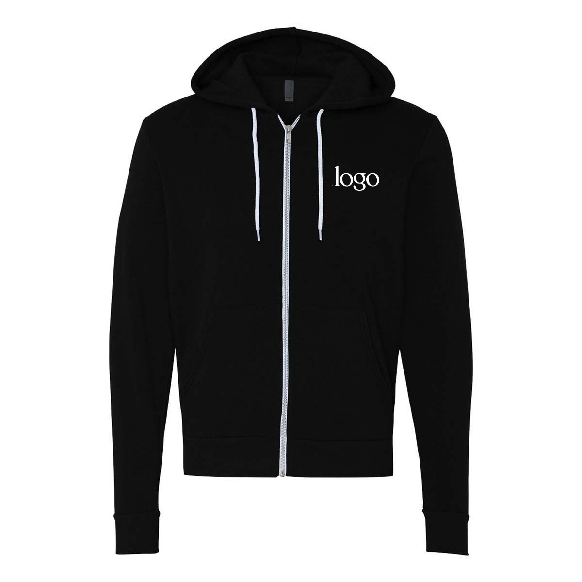 243013 full zip hoodie one color one location imprint