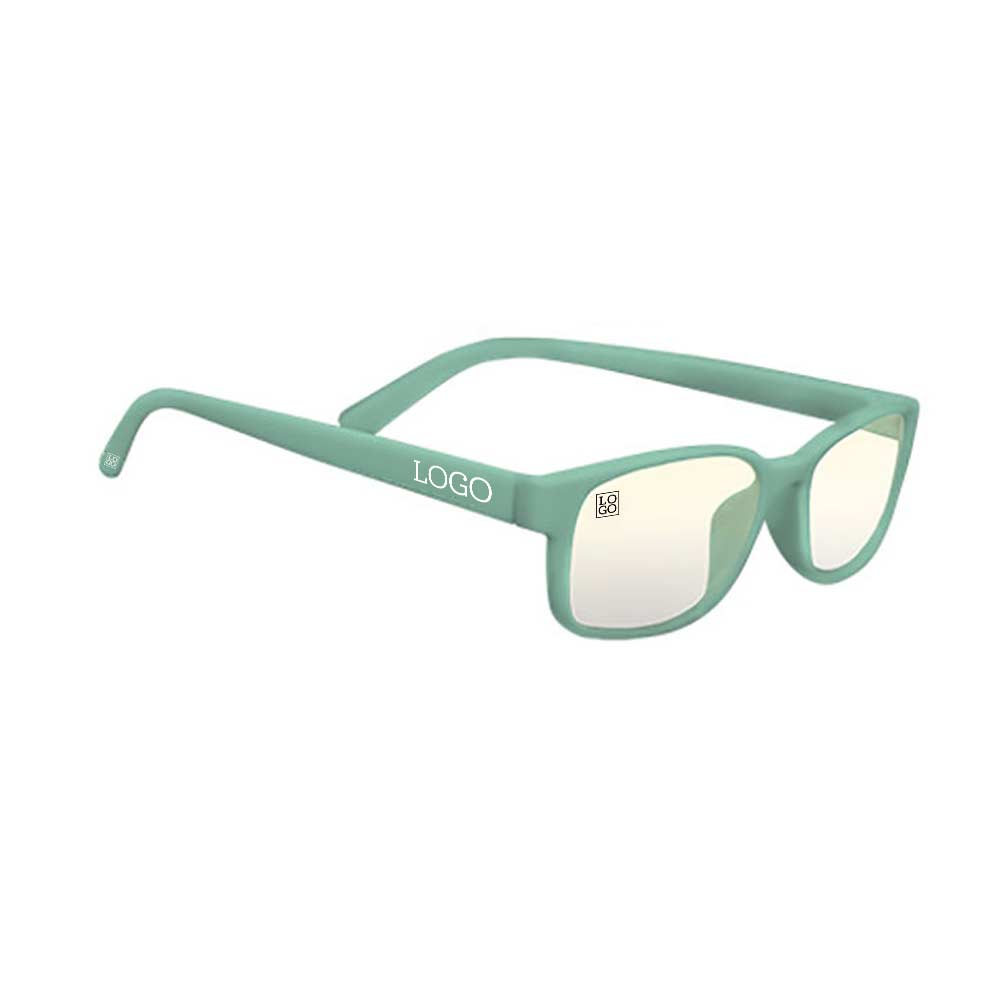 244202 blue light glasses pms matched frames up to 3 color screen print on arms