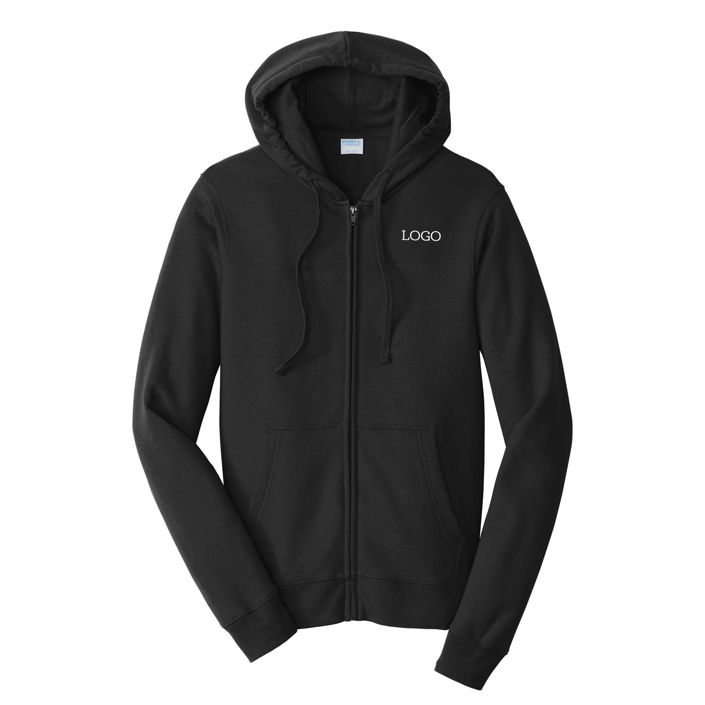 250748 bete fleece full zip one color one location imprint
