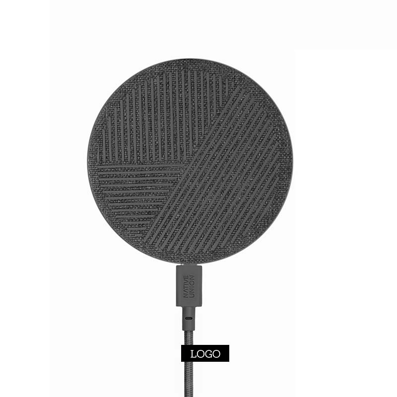 250761 drop wireless charger with woven label