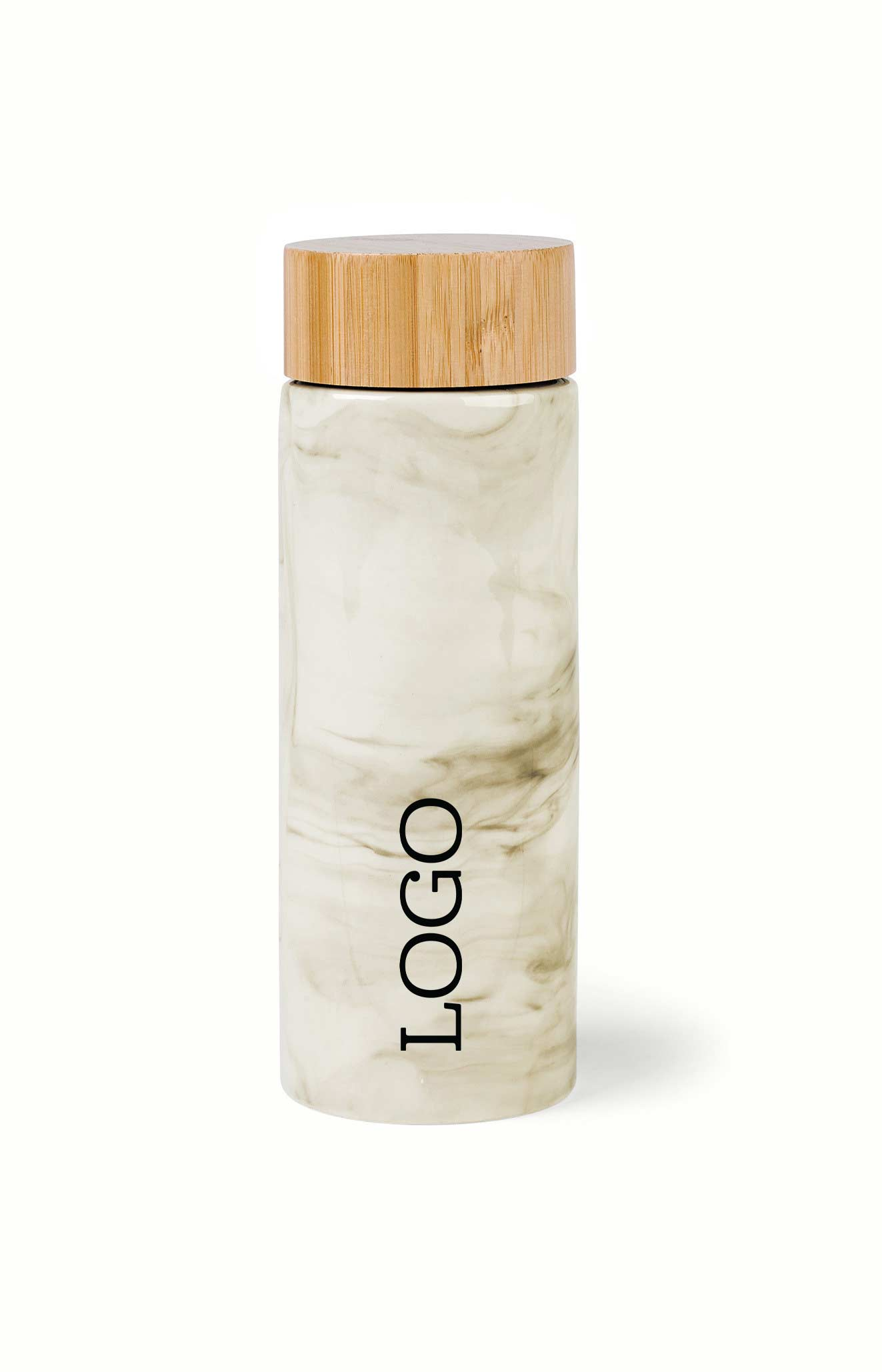 234593 bamboo ceramic bottle one color one location imprint