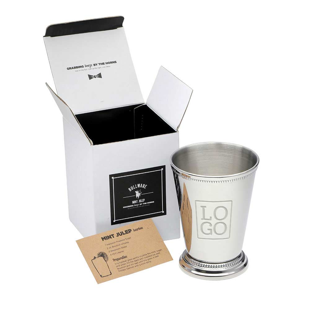 234594 stainless steel julep cup one color imprint or laser engraved one location