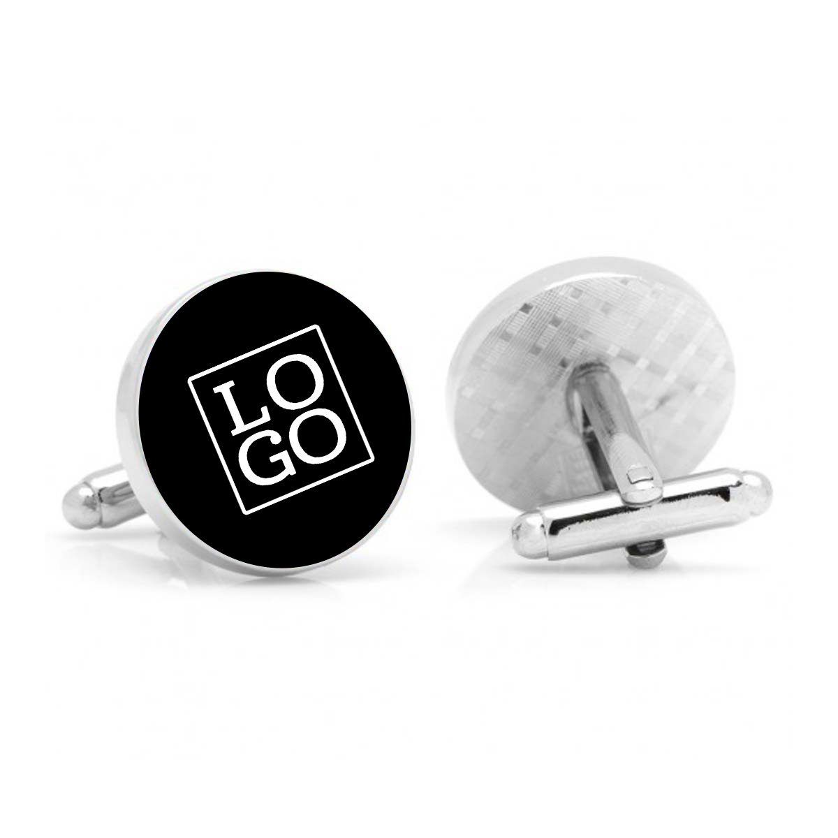 250788 cufflinks three color enamel fill