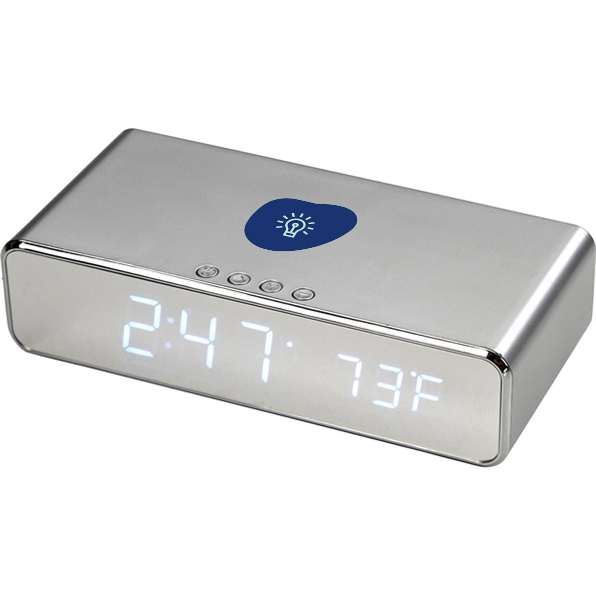 267826 kordal desk clock two color imprint one location